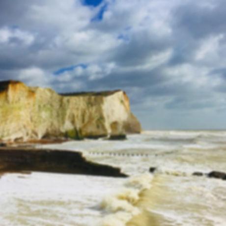 Seaford Seafront, white cliffs, playground, hidden village. Splashpoint. Tide Mills. The Salts