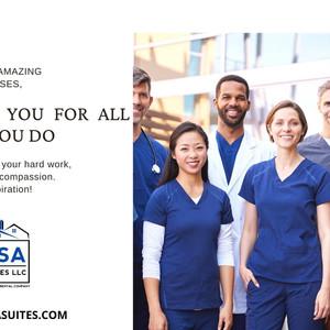 GSA Suites Travel Nurses Thank You message