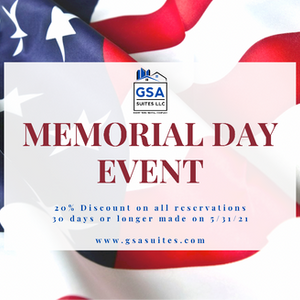 GSA Suites Memorial Day 2021