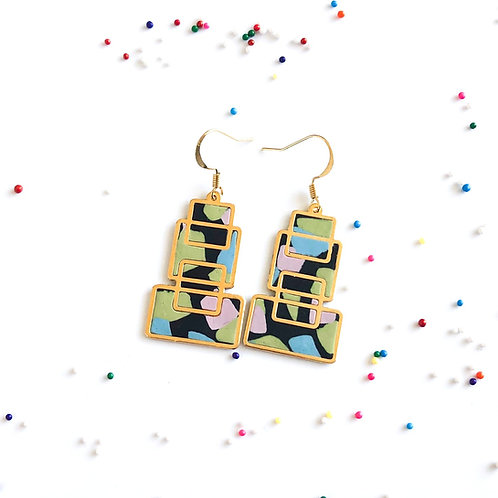 Birthday Cake Earrings birthday gift gift for her mint chip theme gift ice cream candy cookie
