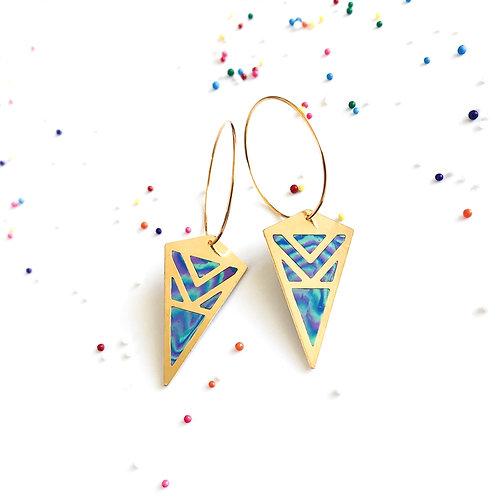 Kite earrings hopp earrings candy collection striped candy cane cute fun dangling earrings light weight