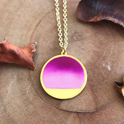 pink gibbous moon celestial pendant power of pink pendant