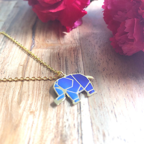 cute elephant blue pendant pet parents animal lovers gift present birthday thank you friend anniversary her unique handmade