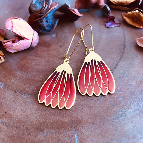 crocus flower floral red maroon orange handmade gift jewelry lightweight crocus bell flower pretty delicate birthday unique