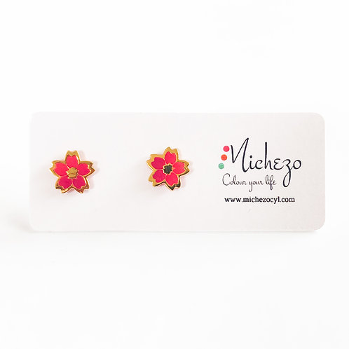 Gift for mom sister friend. Cute littel gift. Gift on a budget Pink cherry blossom studs