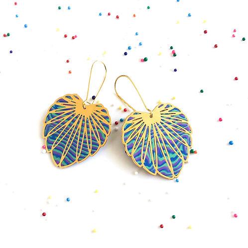 money plant earrings