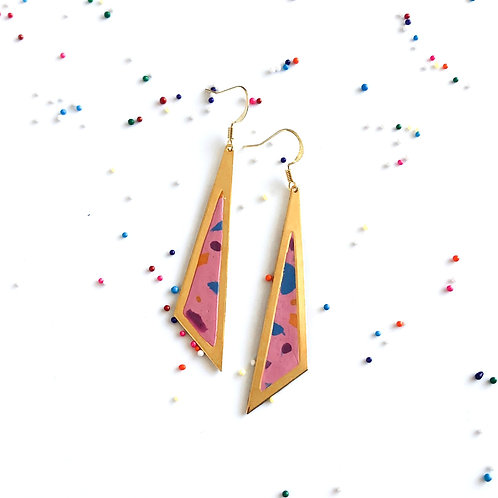 Triangle simple yet bold statement earrings