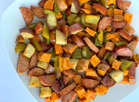 Sheet Pan Sausage & Veggies (Whole30!)