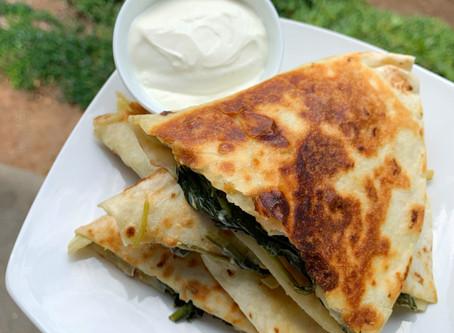 Spinach & Artichoke Dip Quesadillas