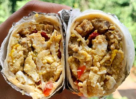 Southwest-Style Sausage Breakfast Burritos