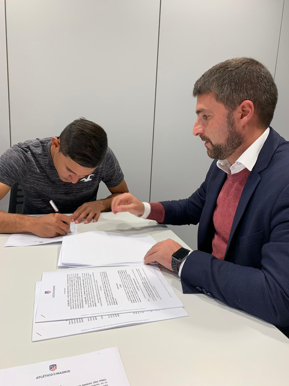 Firma de contrato Atlético de Madrid