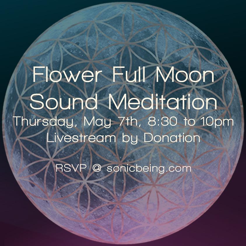 Livestream! Flower Full Moon Sound Bath