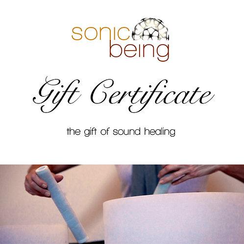 Sound Bath Gift Certificate