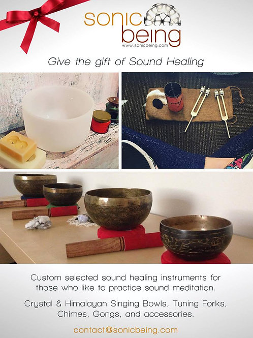 Custom curated sound healing gifts