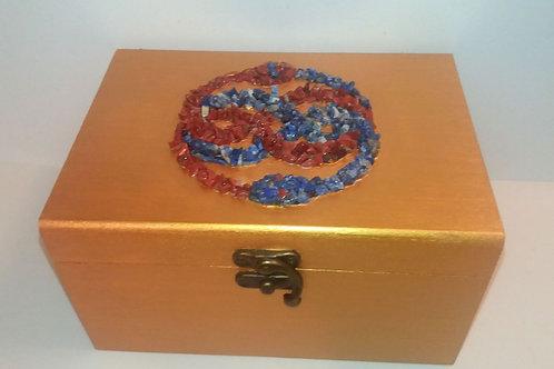 Caja madera con Simbolo