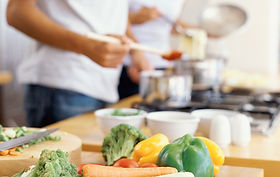 Couple Cooking - Commercial kitchen for rent in San Diego