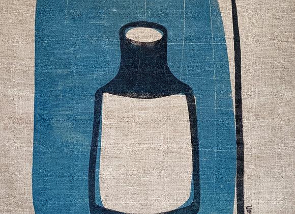 Tea Towel Blue bottle