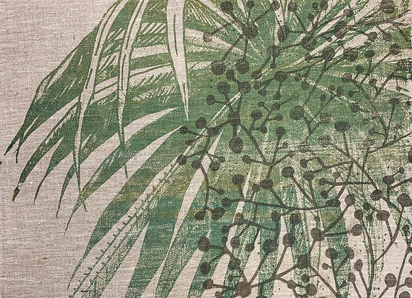 Napkin - Palm Frond Green on Stone