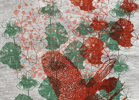 Tea Towel Rust Banksia & native violet