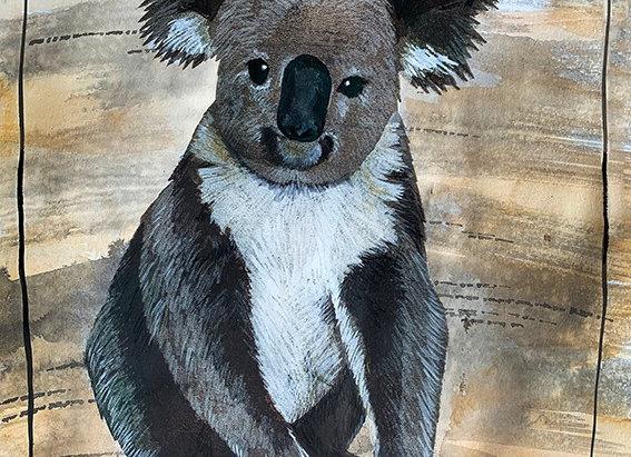 Artwork on paper. Koala