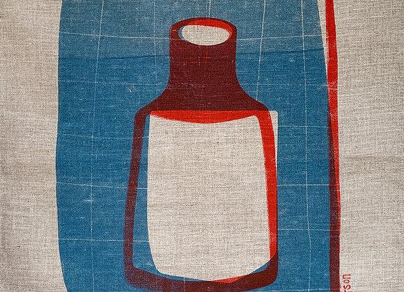 Tea Towel Red bottle