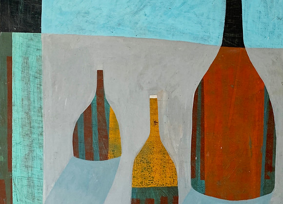 Bottle Abstract in blue