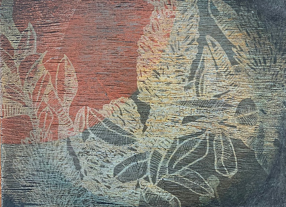 Artwork on wood. Banksia Thursday evening