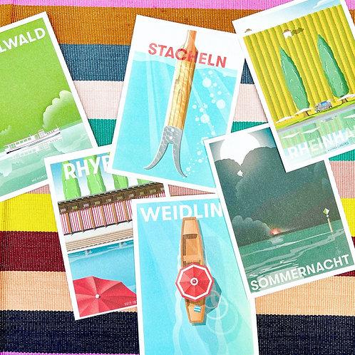 "Postkarten - Serie ""Rhein"""