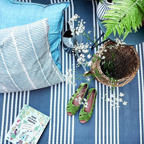 Kissen Lemongrass blue/white