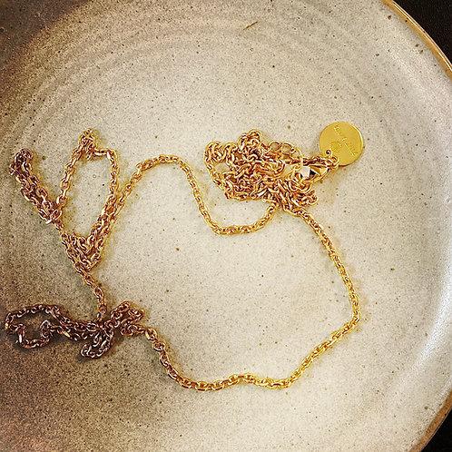 Kette Brass vergoldet