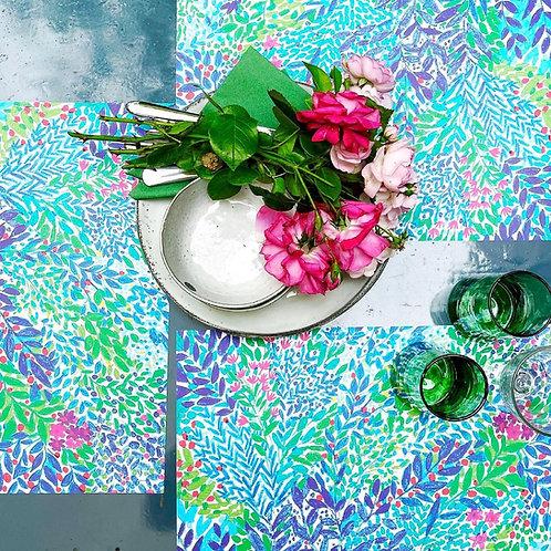 """Tischsets """"Blauer Garten"""""""