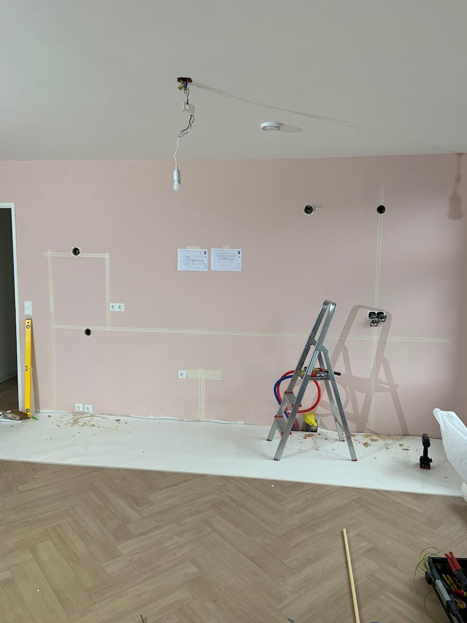 Leidingplan nieuwe keuken uitzetten | JP