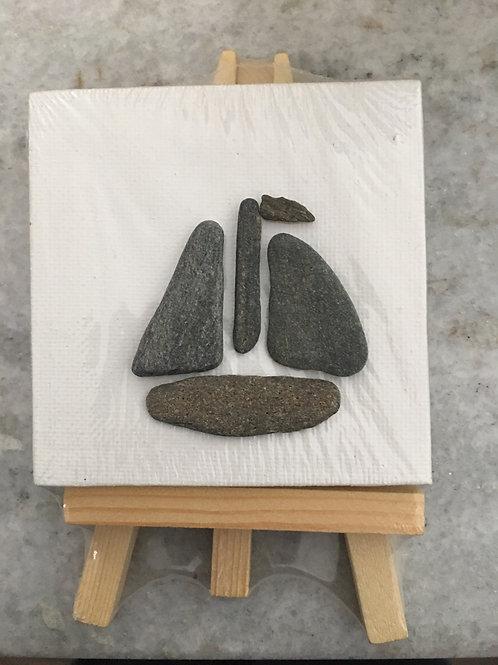 DIY Maine Sail Boat Ocean Art Kit