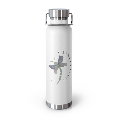 Sea Glass Dragonfly 22oz Vacuum Insulated Bottle