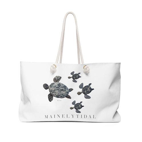 Mainely Tidal Turtle Family Weekender Bag, Boat Bag, Beach Bag