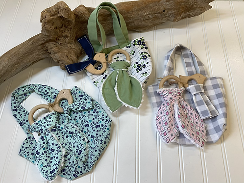 Baby Teether & Small Tote Bag Set