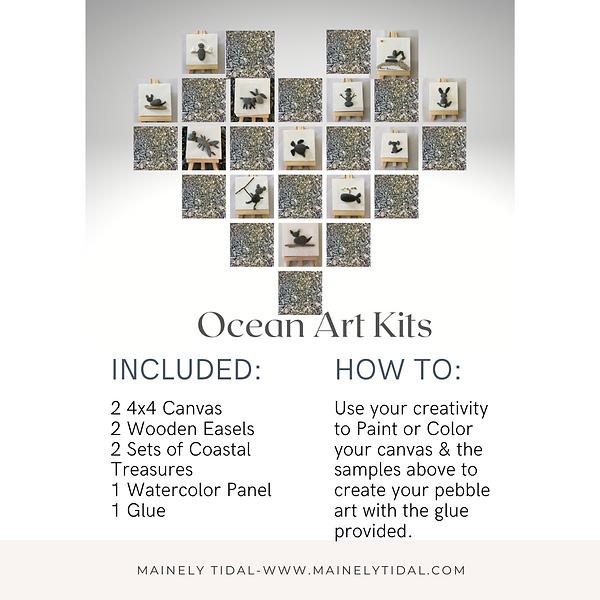 Pebble Art DIY Kits for Kids, Kids crafts, Birthday party favors. Maine DIY Kit, Art Kit