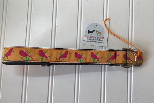Dog Collar, Large - Birds