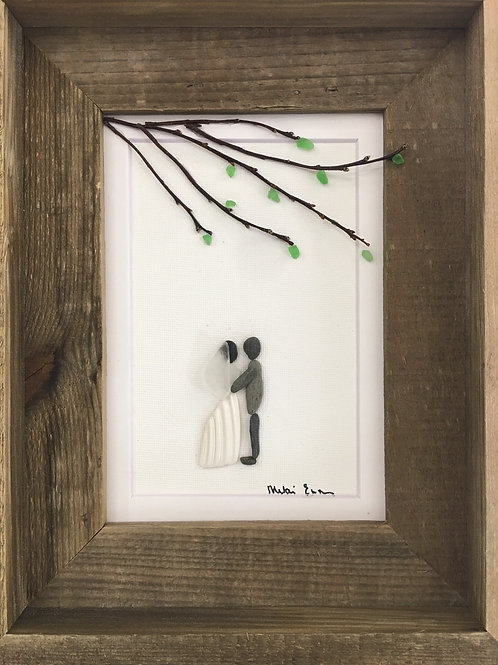 Wedding 5x7 Made to Order with Tree Barn wood