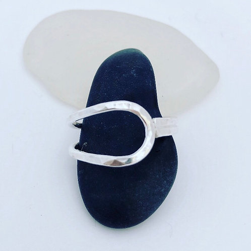 Double Wrap Hammered Ring - Sterling Silver