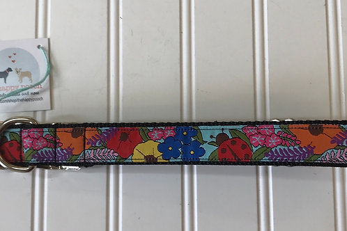 Dog Collar, Large - Flowers & Ladybugs