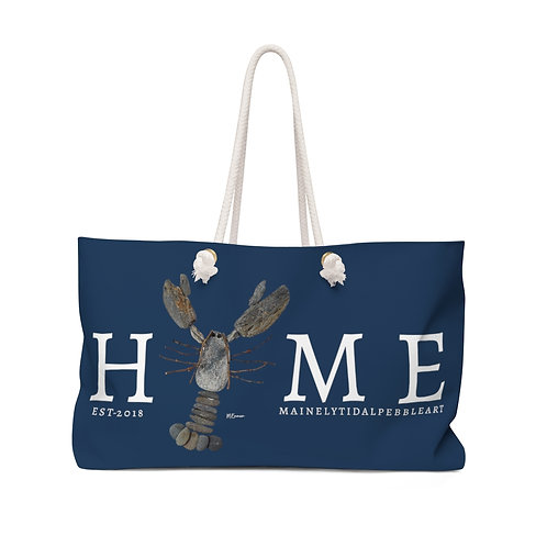 Home Maine Rock Lobster Weekender Bag, Beach Bag, Boat Bag Navy & White