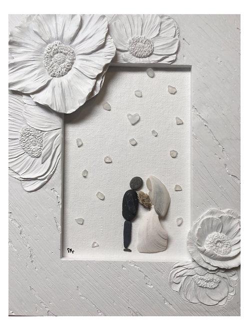 Greeting Card Premium Quality White Wedding Blank Inside