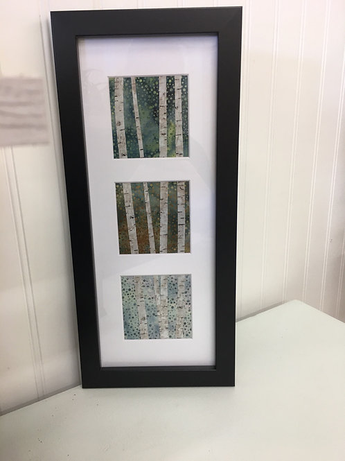 Maine Birches or Maine Moon & Branch Fabric Collage