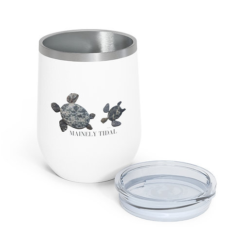 Mainely Tidal Turtle Insulated Wine Tumbler