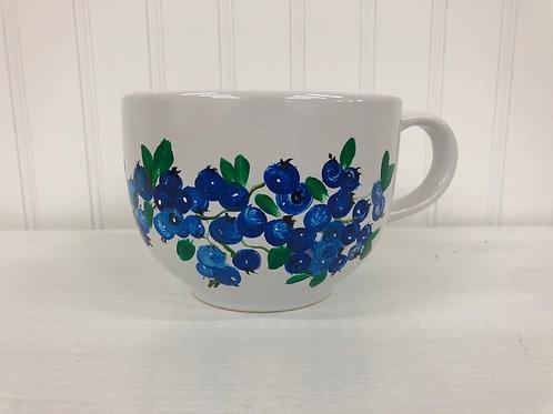 Hand painted Blueberry Mug