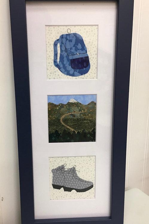 Maine Hiking Fabric Collage