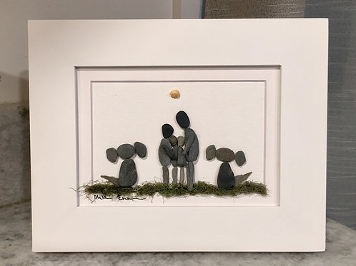 Family with pups! White 5x7