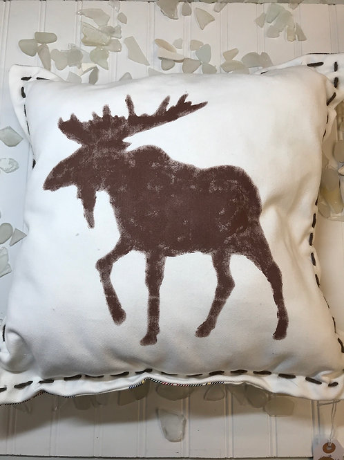 Double Sided Moose Pillow