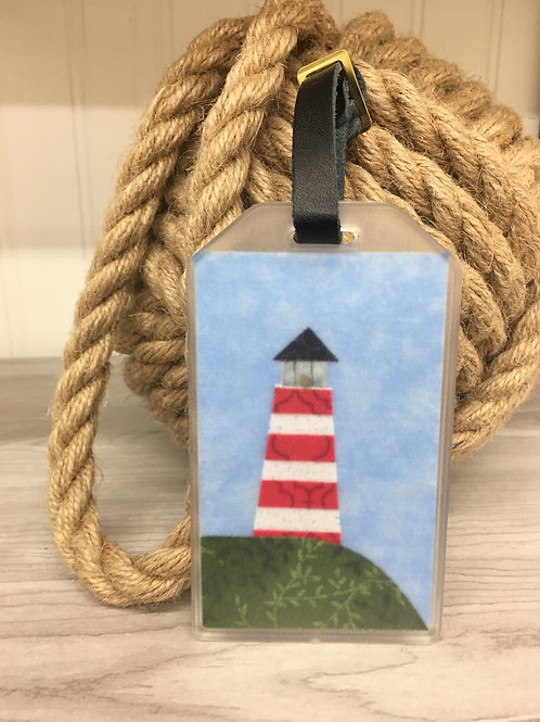 Maine Lighthouse Fabric Luggage Tags